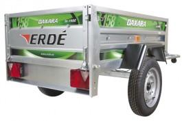 Daxara 158.2 Trailer with jockey wheel, twin skinned trailer box, and shock absorbers