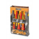 Beta Tools Set of 6 Insulated Slotted and Phillips Screwdrivers 1273MQ/D6