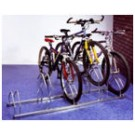 Mottez 5 Bike Staggered Floor/Wall Mounted Rack B129V