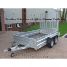 Indespension GT26105 Fixed Sided Goods 10ft x 5ft 1in Twin Axle Trailer