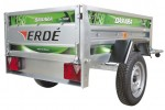 Daxara 158.4 Trailer 4ft 9 Inches x 3ft 4 Inches with Jockey Wheel Twin Skinned Trailer Box and Shock Absorbers