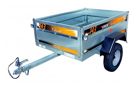 ERDE 143.2 Trailer, 4ft 9inches x 3ft 3inches, 502kgs