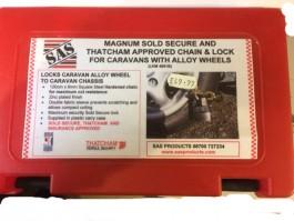 Magnum 120cm x 8mm Chain and Lock LKM 4991b