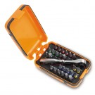 Beta Tools 25 Bits 1 Connector and 1 Reversible Ratchet in Plastic Case 860/C27