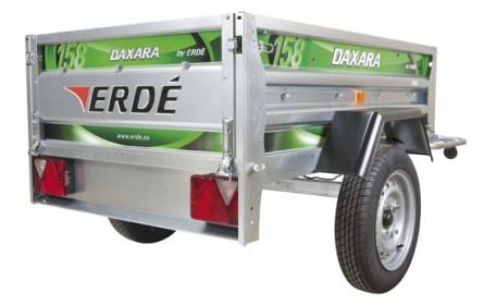 Daxara 158.4 Trailer 4ft 9 Inches x 3ft 4 Inches with Jockey Wheel Twin Skinned Trailer Box
