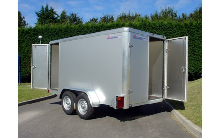 Indespension Tow-a-Van 5 - 10ft 4 inches x 4ft 10.25 inches x 4ft 8.75 inches Twin Axle Braked Box Trailer TAV5